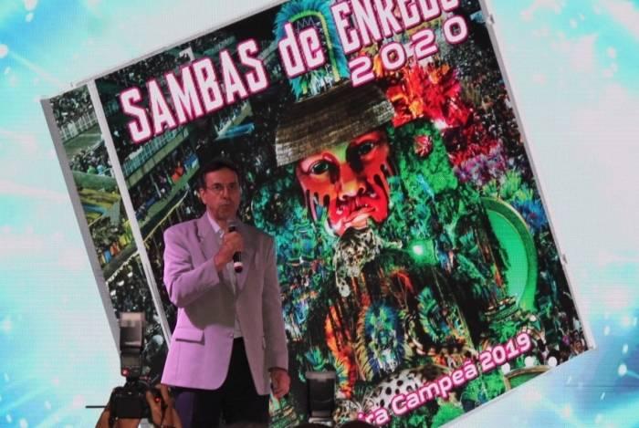 Presidente da Liesa, Jorge Castanheira, no lançamento do CD do Grupo Especial para o Carnaval 2020