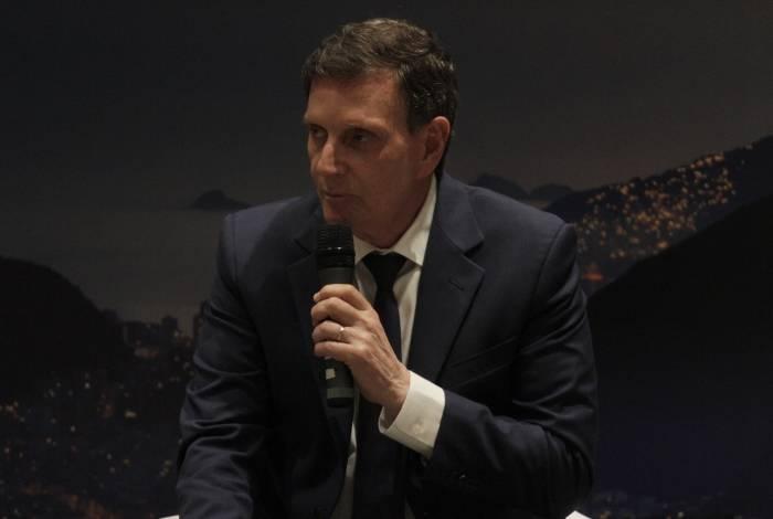Prefeito Marcelo Crivella enalteceu a parceria com o presidente Jair Bolsonaro para chegada dos recursos para Saúde. Foto: Cleber Mendes/Agência O Dia
