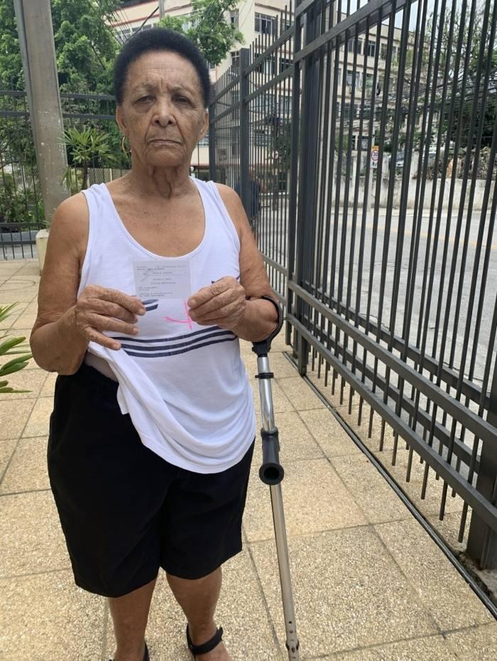 Dona Zelair dos Santos Calixto, de 84 anos