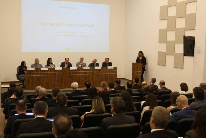 Seminário ocorreu em Brasília e debateu possibilidade de mudanças no Regime de Recuperação Fiscal