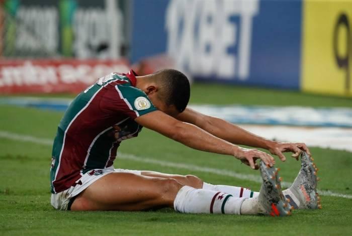 Frustração: mesmo empurrado pela torcida, em bom número no Maracanã, o Fluminense de Gilberto foi incapaz de superar o time do Fortaleza