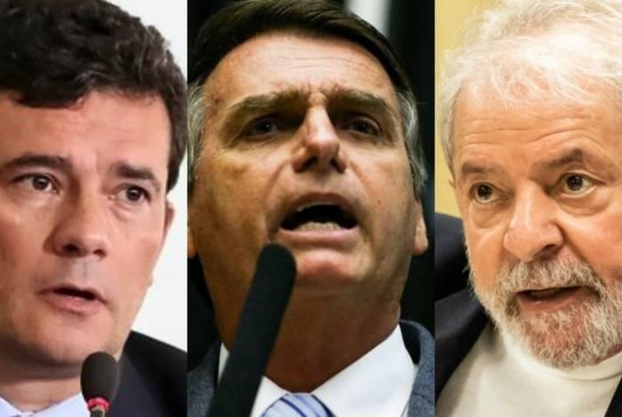 Tanto Bolsonaro quanto Moro empatarim com Lula no primeiro turno