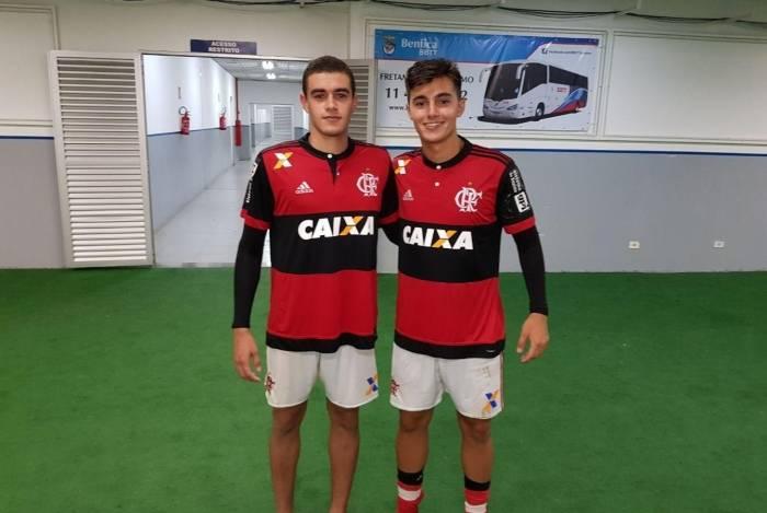 Bernardo e Theo nos tempos de Flamengo