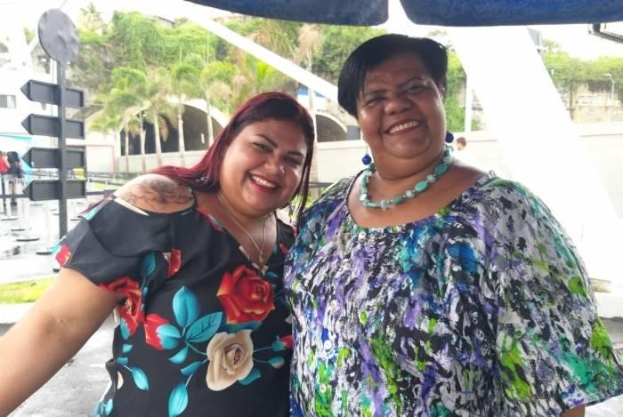 Sogra e nora aproveitaram o dia de folga para conhecer o novo cartão-postal do Rio