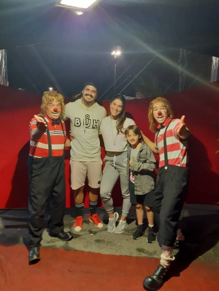 Priscila Fantin, Bruno Lopes e Romeo no Las Vegas Circus