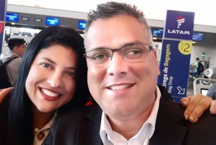 Alana Passos e seu marido, Robson