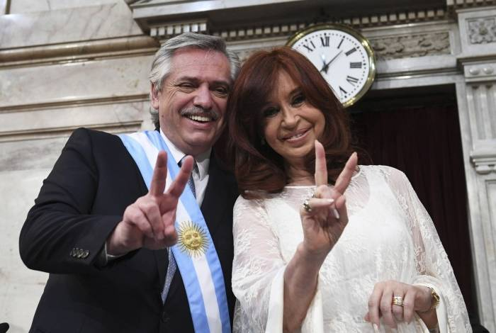 Alberto Fernandez e sua vice, Cristina Fernandez