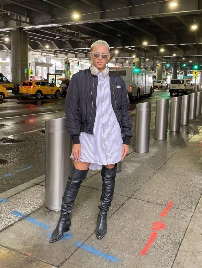Pabllo Vittar desembarcou em Nova York na noite desta terça-feira