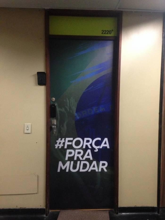 Escritório de apoio de Rodrigo Amorim, na Rua da Assembleia