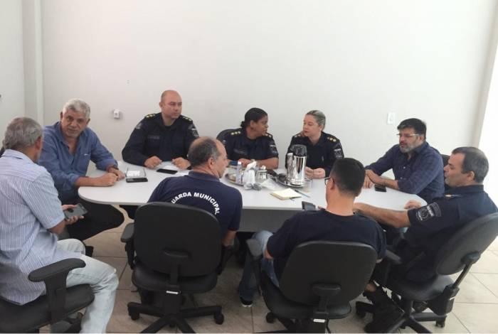 Durante a reunião foi discutido o plano de ação dos diferentes grupamentos da Guarda Municipal