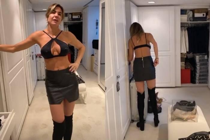 Luciana Gimenez capricha no modelito para curtir noitada