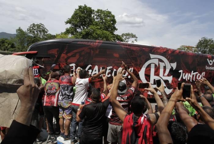 Flamengo embarcou para o Catar