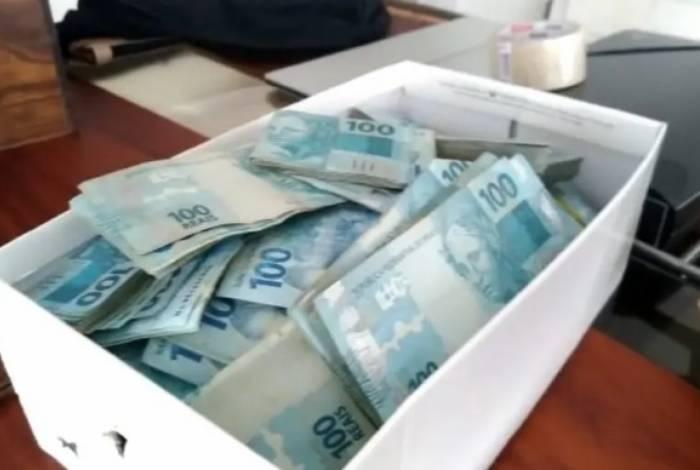 Dinheiro apreendido na Operação Águas Claras