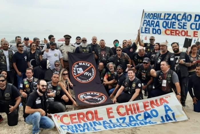 Motociclistas do Rio fazem campanha contra uso de cerol e linha chilena nas pipas