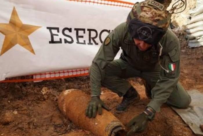 Bomba inglesa encontrada em Brindisi, no sul da Itália