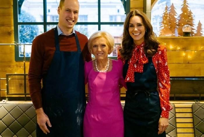 Príncipe William, Mary Berry e Kate Middleton