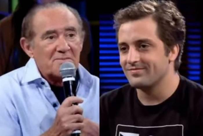 Renato Aragão e Gregório Duvivier discordaram sobre fazer piada com religião durante o programa 'Na Moral' de 2013