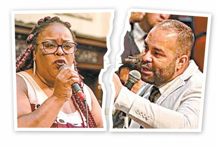Mônica (PSOL) e Filippe Poubel (PSL)