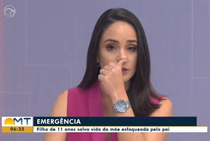 Âncora da Globo se emociona com história de garoto de 11 anos que salvou a mãe