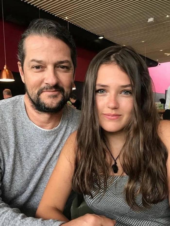 Marcelo Serrado e a filha, Catarina Serrado
