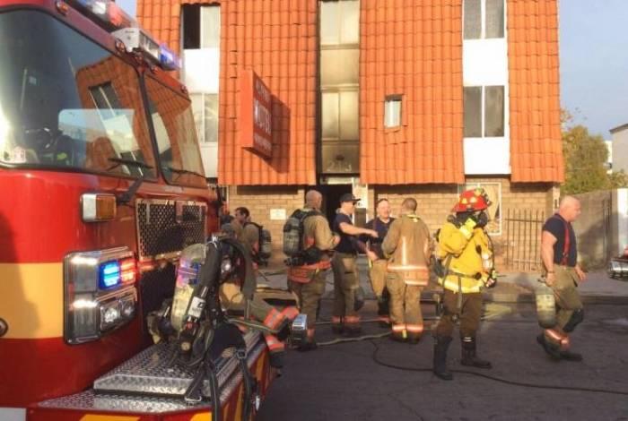 Incêndio aconteceu em prédio residencial