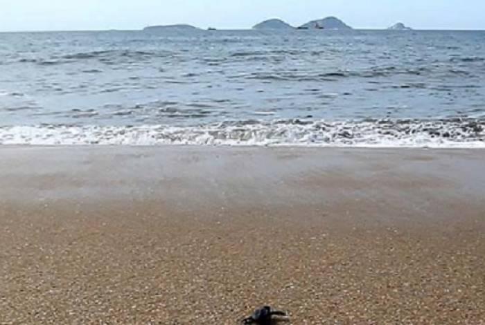 Praia de Lagomar, em Macaé