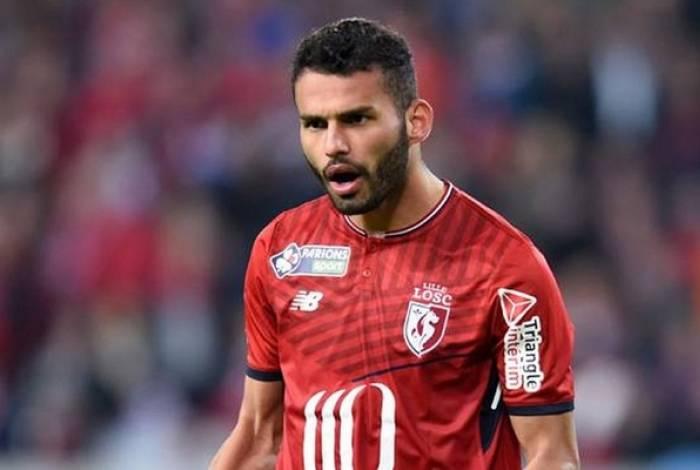 Thiago Maia em ação com a camisa do Lille