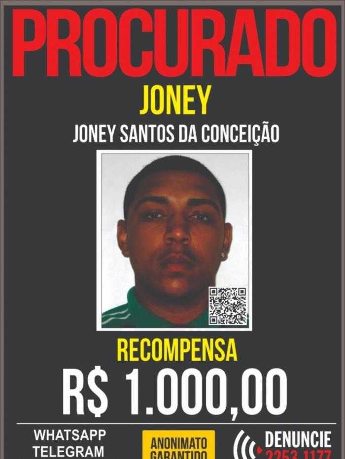 Joney chegou a fazer parte da lista do Disque Denúncia, com recompensa de mil reais para quem o encontrasse