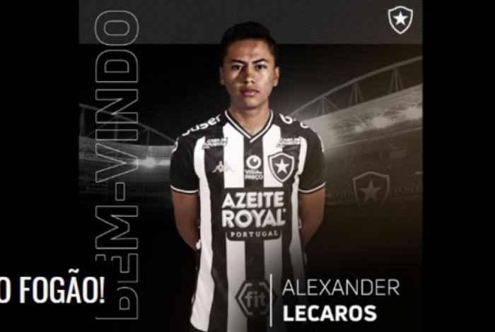 Alexander Lecaros é anunciado no Botafogo como reforço para 2020