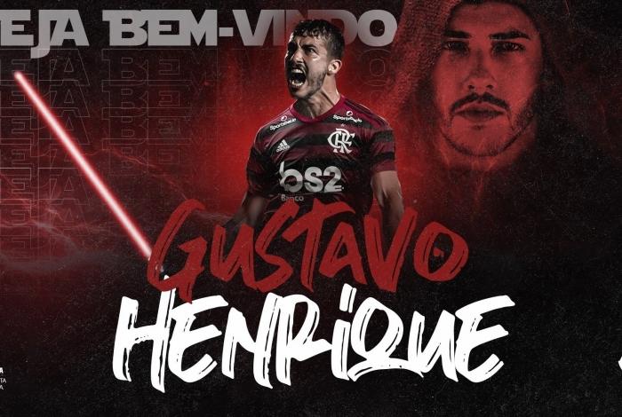 O zagueiro Gustavo Henrique foi anunciado pelo Flamengo