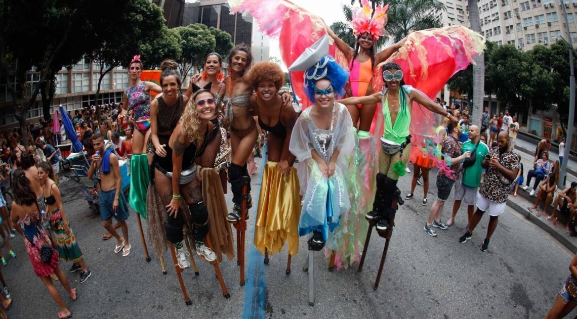 Blocos carnavalescos no centro do Rio
