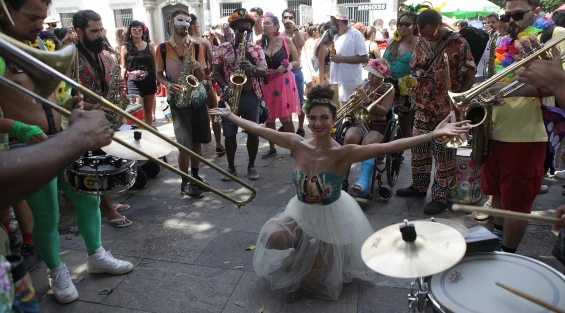 Bloco Vem Cá Minha Flor. Praca XV, Centro do Rio
