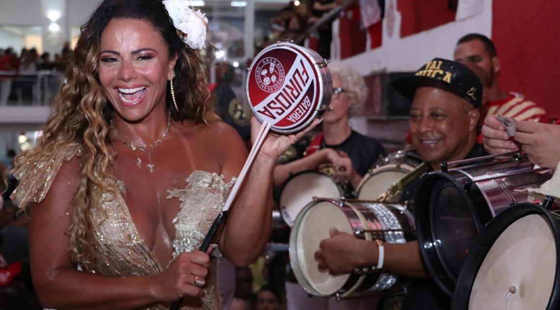 Viviane Araújo no ensaio do Salgueiro