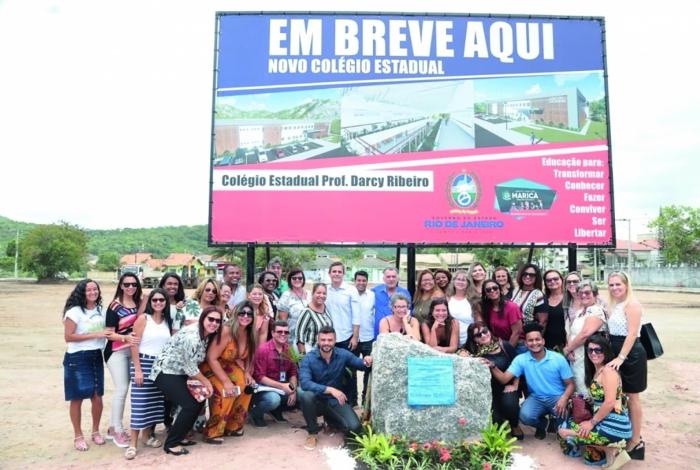 Local do futuro Colégio Estadual Professor Darcy Ribeiro