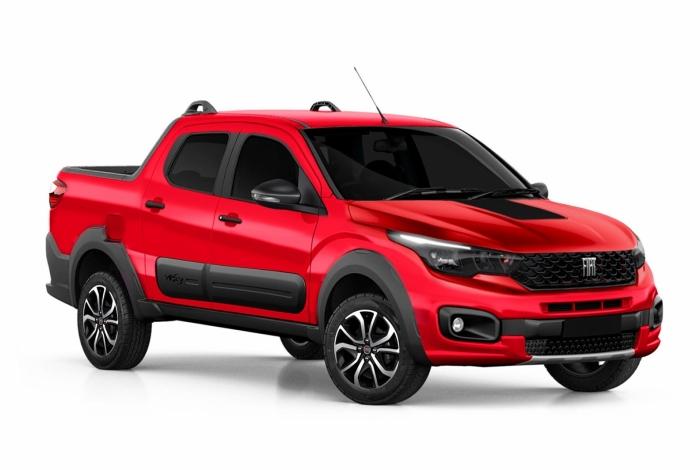 Fiat Strada 2020 deve incorporar elementos do Mobi na dianteira e do Toro atrás. Lançamento é esperado a partir de julho