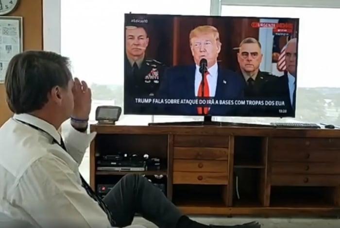 Nos encontros, Bolsonaro fez questão de mostrar admiração por Trump e tem repetido que apoia a reeleição do republicano. As eleições presidenciais nos EUA acontecerão em novembro