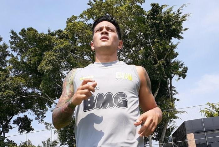 Germán Cano ainda vibra com seu primeiro gol pelo Vasco, sábado, contra o Boavista