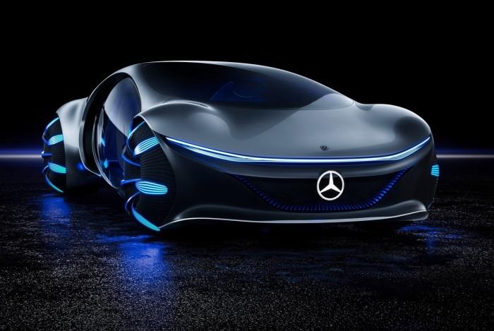 Mercedes-Benz se inspira no filme Avatar para criar conceito elétrico com aerodinâmica ativa