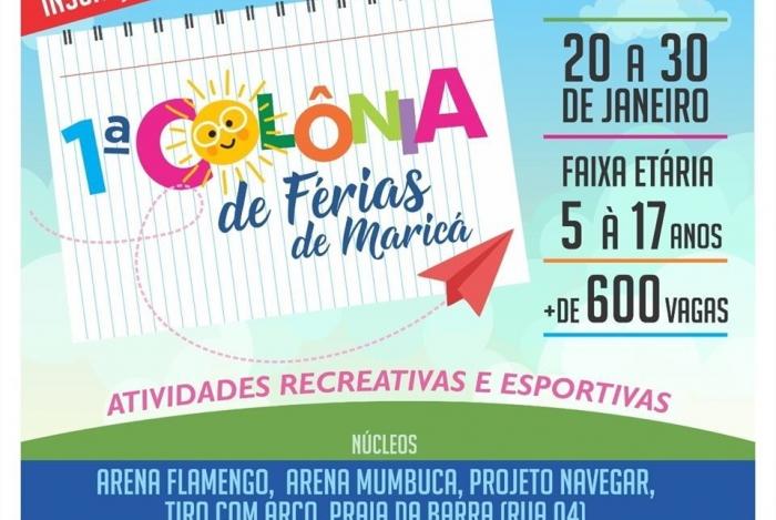 Colônia de Férias em Maricá, promete agitar as férias da garotada