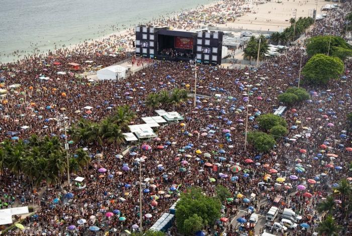 Bloco da Favorita acabou com 28 presos em flagrante em Copacabana