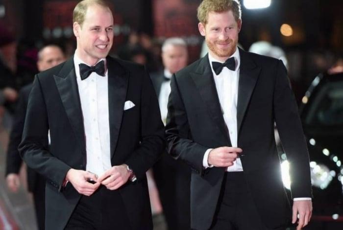 Os irmãos, William e Harry, juntos em um evento na Inglaterra