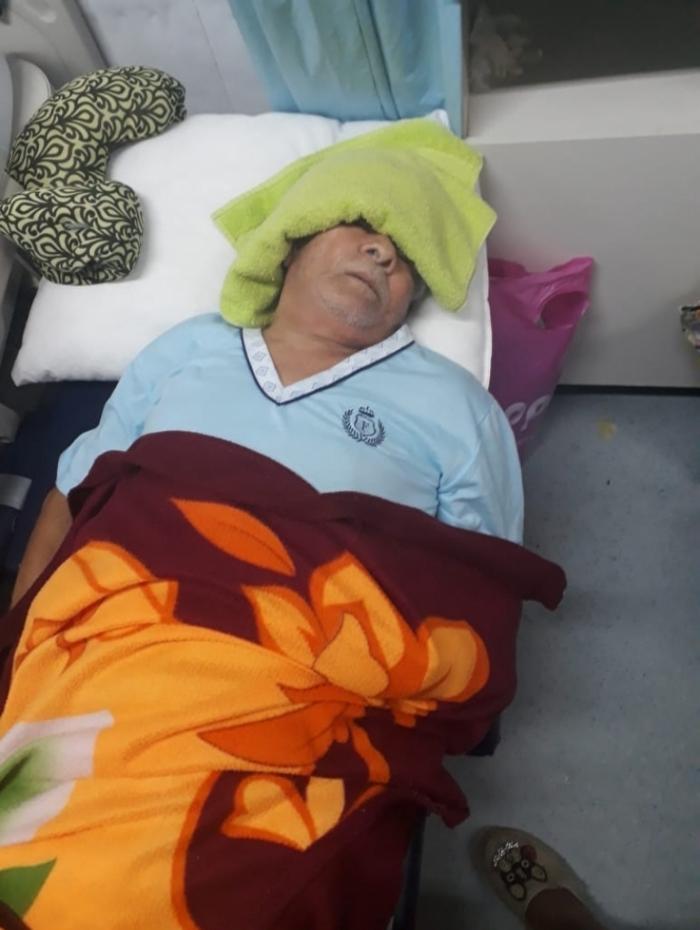 José Gomes de Souza: diagnosticado com AVC