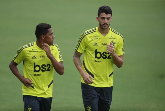 Rio, 13/01/2020, Teste fisicos dos novos jogadores do Flamengo Gustavo Hnrique e Pedro Rocha, Foto de Gilvan de Souza / Agencia O Dia