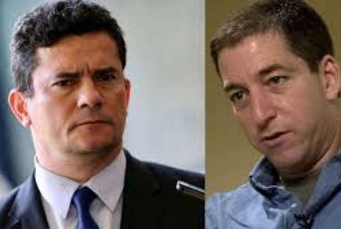 Sergio Moro e Gleen Greenwald