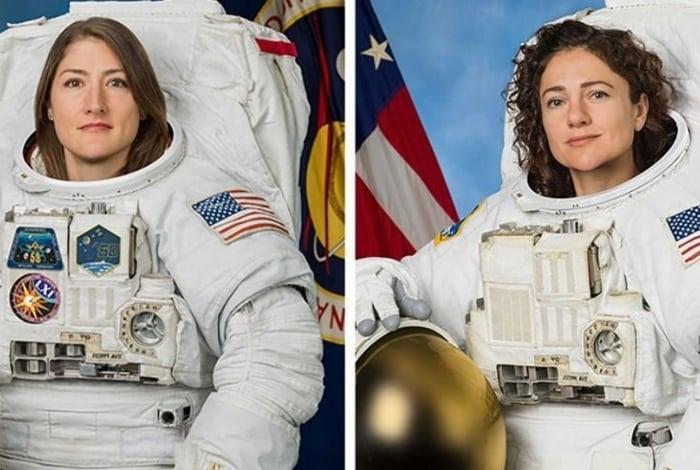Astronautas Christina Koch e Jessica Meir