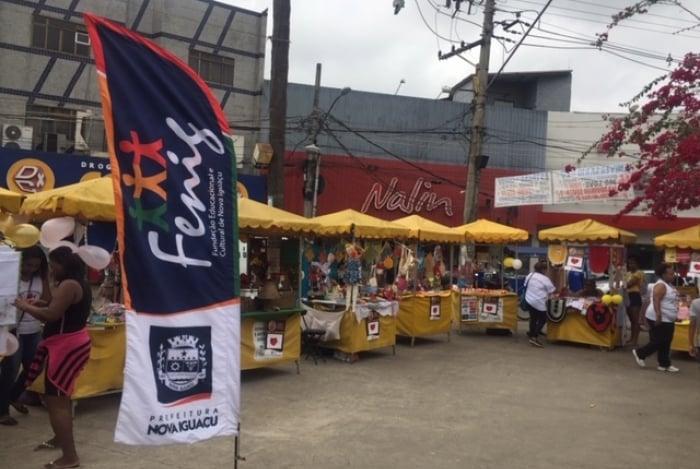 Os artesãos da cidade participam das feiras na cidade, como a de Miguel Couto