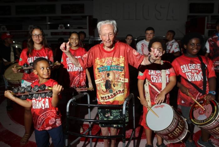 Rio de Janeiro 16/01/2020 - Dona Zilda de 101 anos visita a quadra do Salgueiro. Foto: Luciano Belford/Agência O Dia