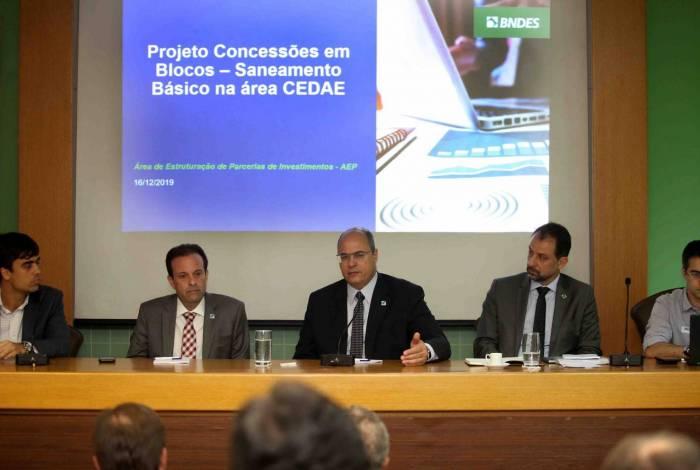 Governador Wilson Witzel participa de reunião com representantes do BNDES sobre concessão da Cedae