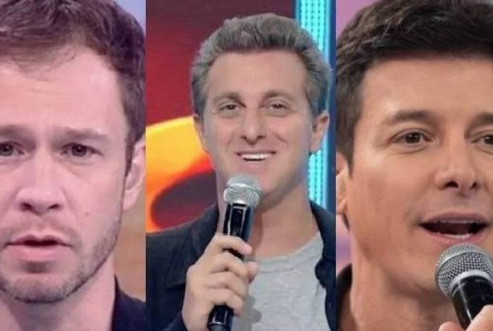 Tiago Leifert , Luciano Huck e Rodrigo Faro