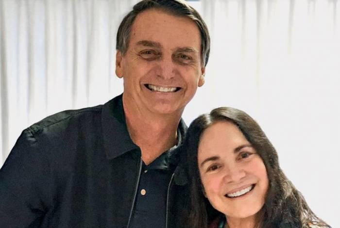 Jair Bolsonaro e a atriz Regina Duarte